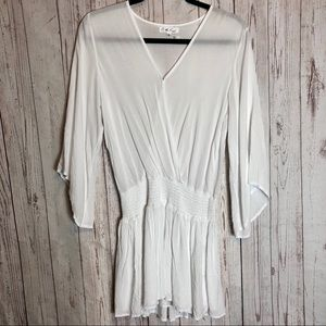 ON THE ROAD   Sheer White Dress Size Small